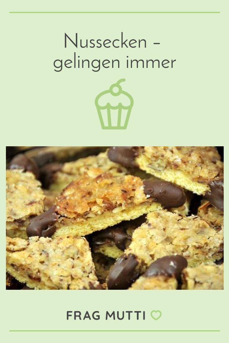 Nussecken - gelingen immer - Rezept | Frag Mutti