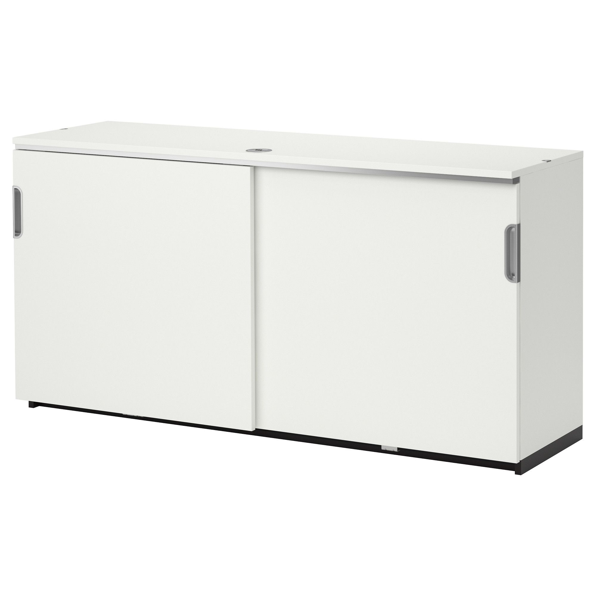 galant cabinet with sliding doors white ikea flanking drawer unit as credenza behind suzanne