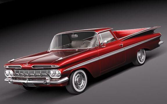 The First Chevrolet El Camino 1959 Classic Cars Trucks Cars
