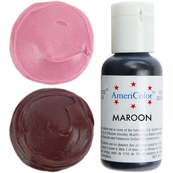 Maroon Gel Paste Food Coloring   All about FLAVOR & COLOR CAKES by ...