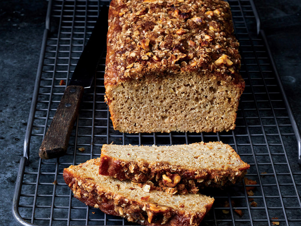 This Easy Banana Bread Recipe Is Healthy Nourishing And Incredibly Indulgent Quick Cooking Oats Tang In 2020 Banana Walnut Bread Banana Bread Recipes Cooking Light