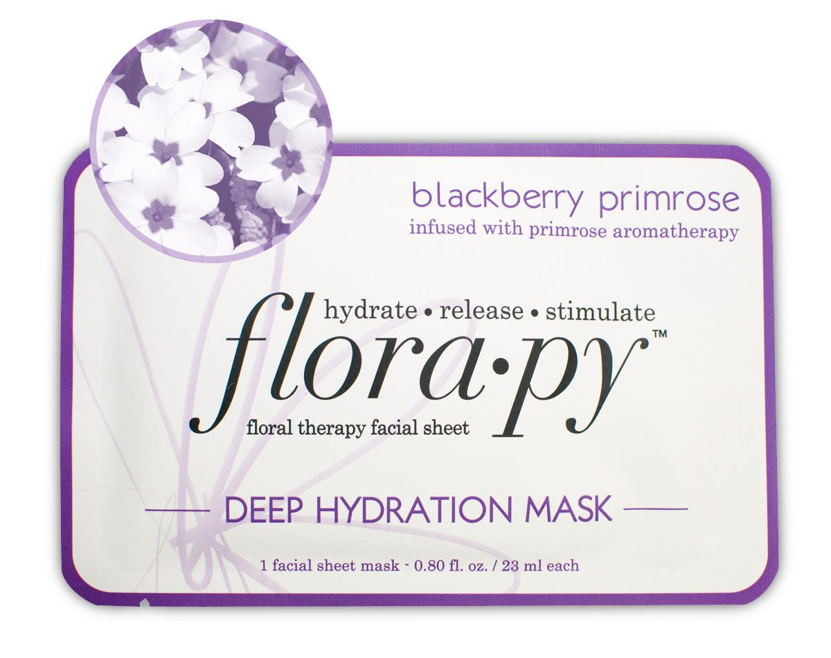 Florapy Deep Hydration Sheet Mask, Blackberry Primrose Altchek MD - Brightening Serum Skin Tone Corrector - 1 oz.
