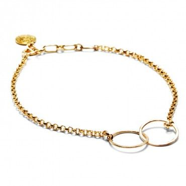 Zoe Chicco Gold Fill Circle Bracelet