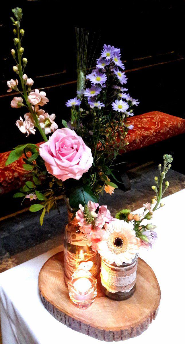 Belleek Castle Weddingcentre Piecesflower Jars Rusticcountryside
