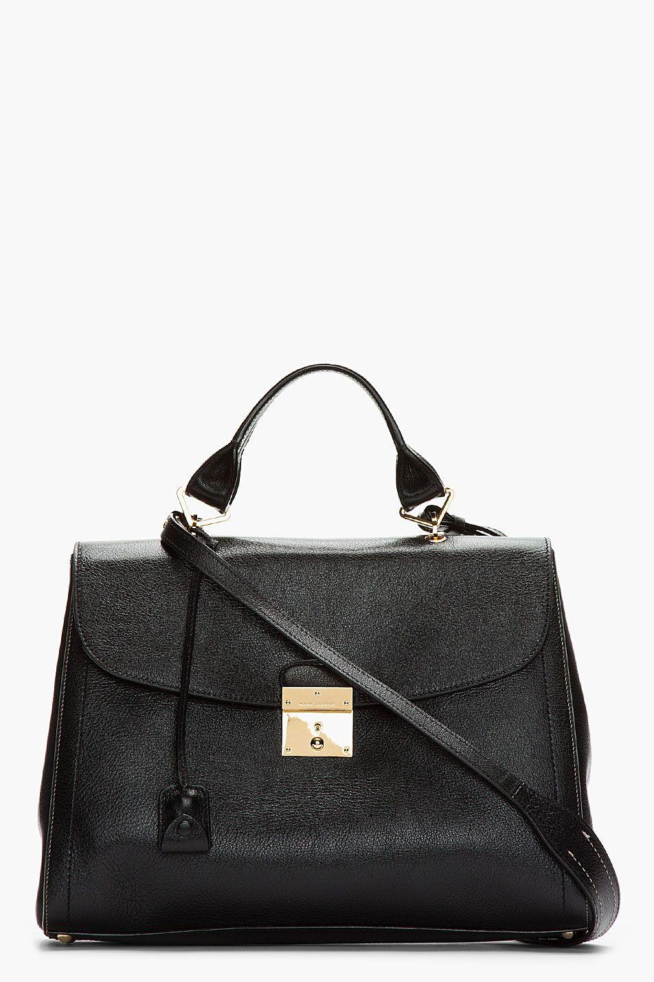 1,139.50 Marc Jacobs Black Leather Shoulder Bag