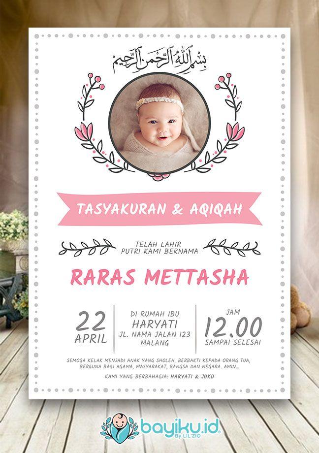 Format Undangan Aqiqah Photoshop : format, undangan, aqiqah, photoshop, Format, Desain, Undangan, Aqiqah, Kartu, Cute766