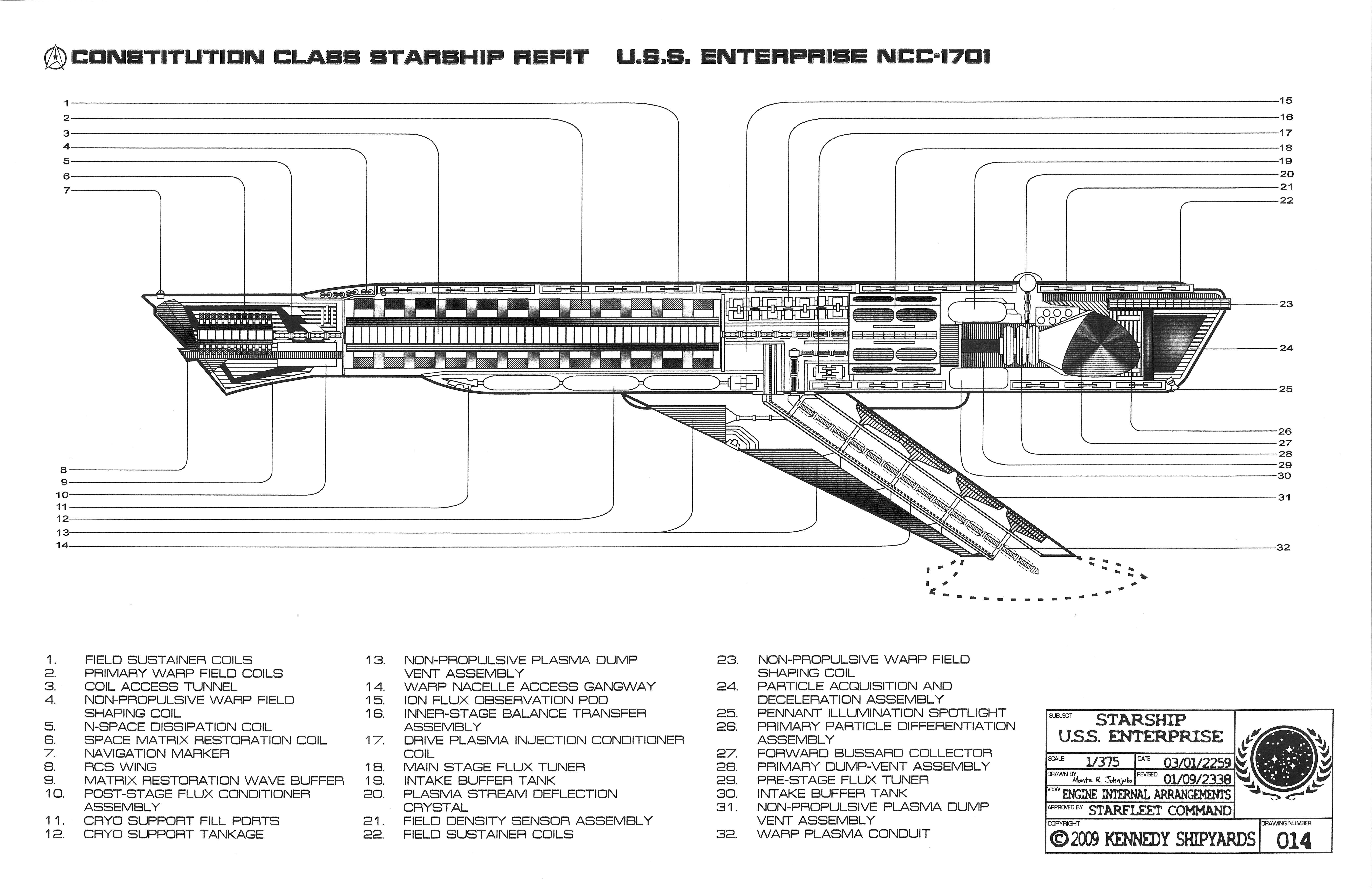 Enterprise Ncc 1701   Constitution Class Starship Refit Blueprints