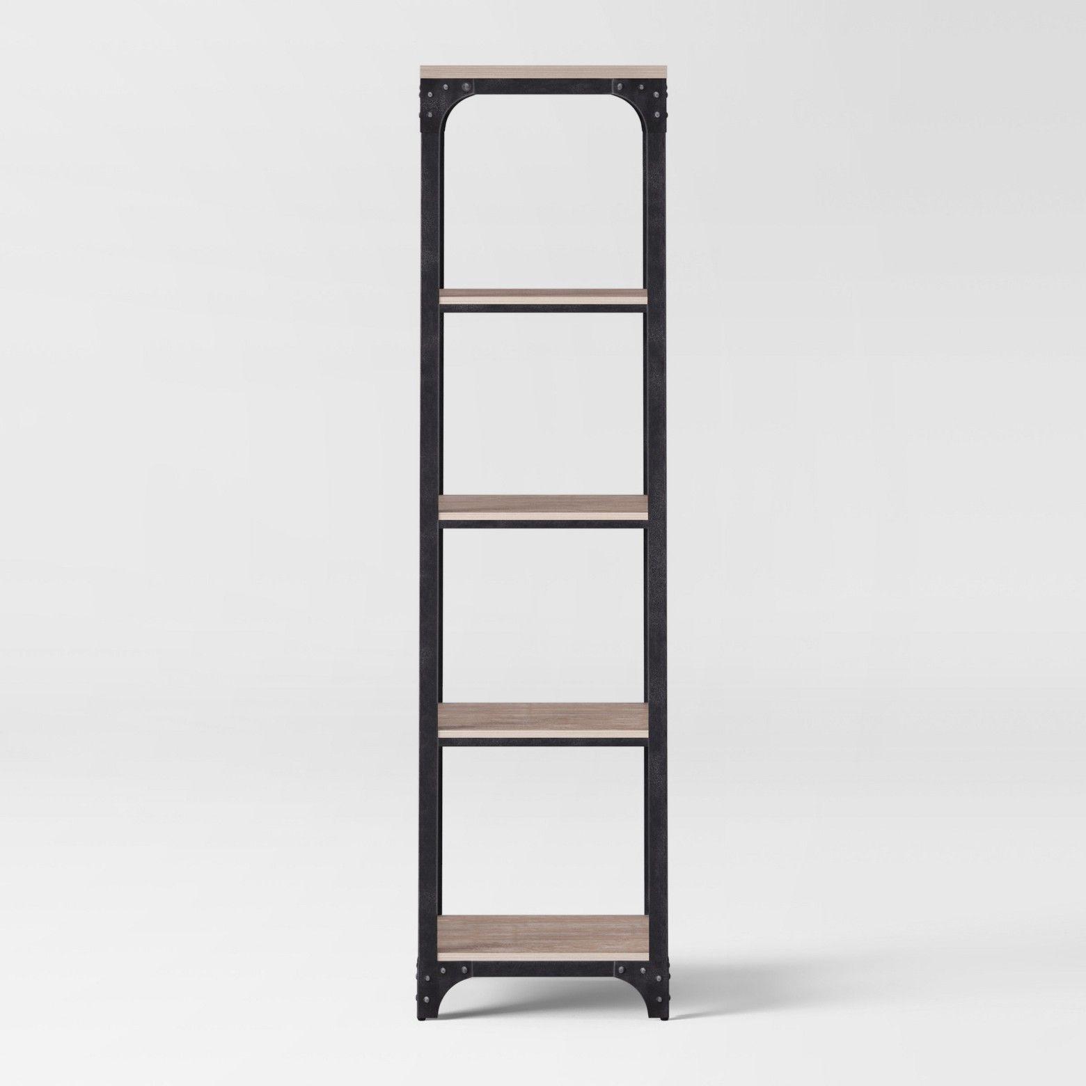 72 Franklin 5 Shelf Narrow Bookshelf Gray Threshold Narrow