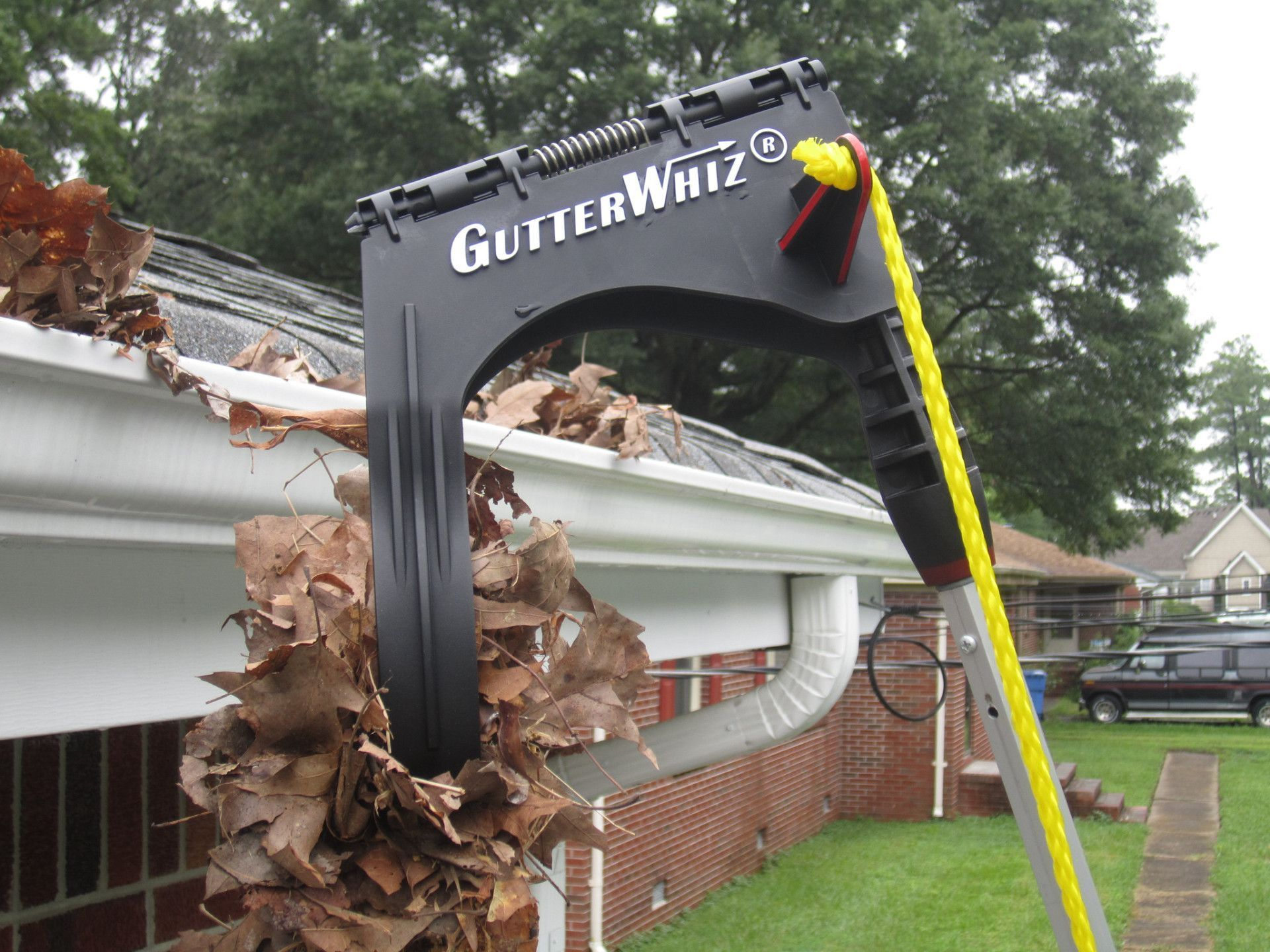 Do you HATE Cleaning Gutters? GutterWhiz-- the DIY Gutter Cleaner lets you clean your gutters from the safety of the ground without a dangerous ladder. (Extension pole sold separately to suit gutter height.) Buy GutterWhiz gutter cleaner and specially designed GutterWhiz Extension Pole on Amazon. Enter GutterWhiz in Amazon search box.