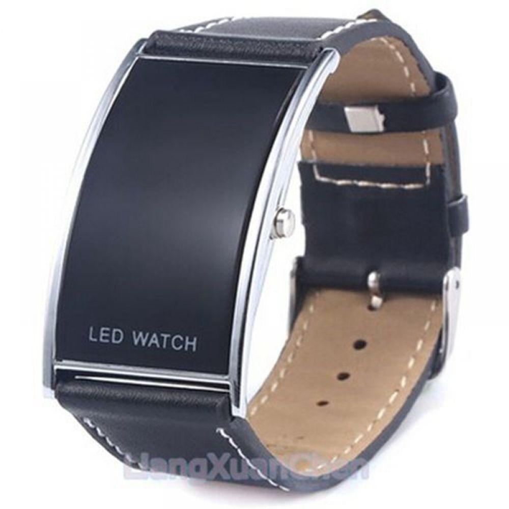 Men's Watch Men Quartz Wrist Watch Black with Leather Band