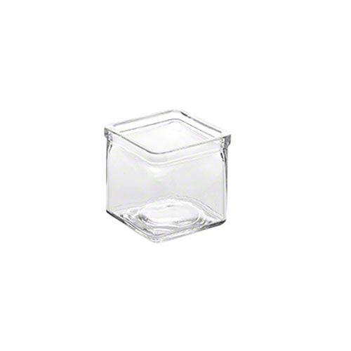 "American Metalcraft (GJ6) - 2-1/2"" Square Glass Jar | FoodServiceWarehouse.com"