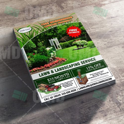 Lawn Care Flyer Marketing Design Landscaping Marketing Flyer