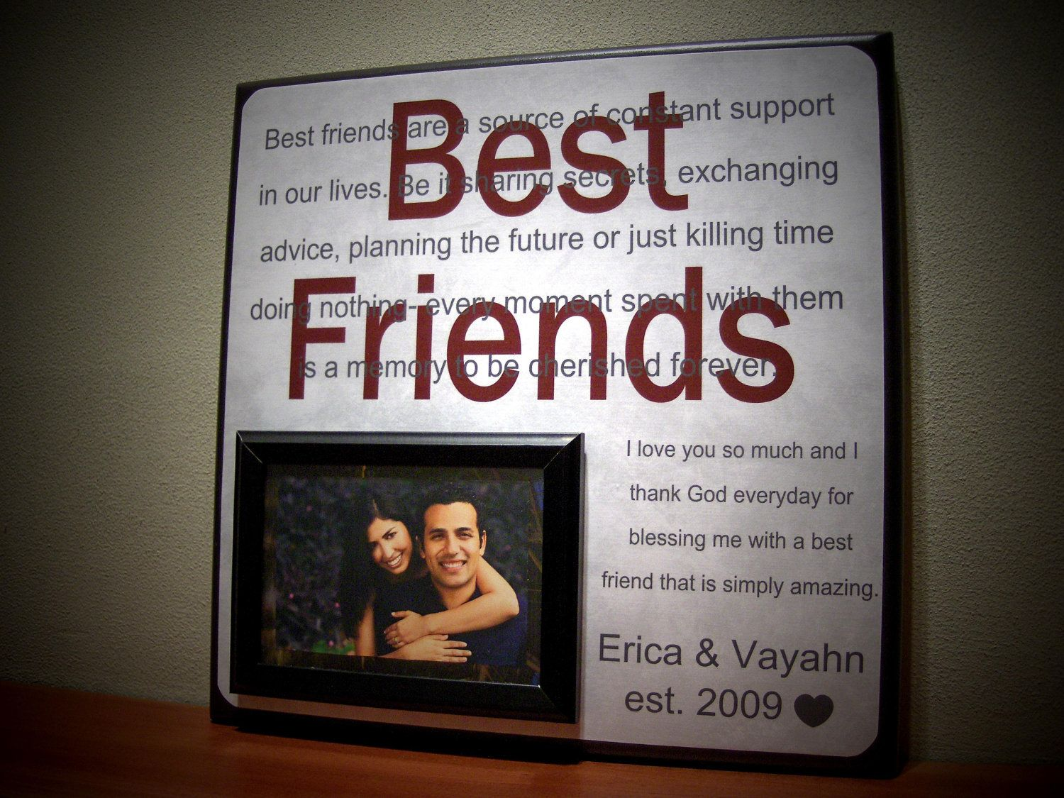 best friends picture frame anniversary gift by yourpicturestory 6500