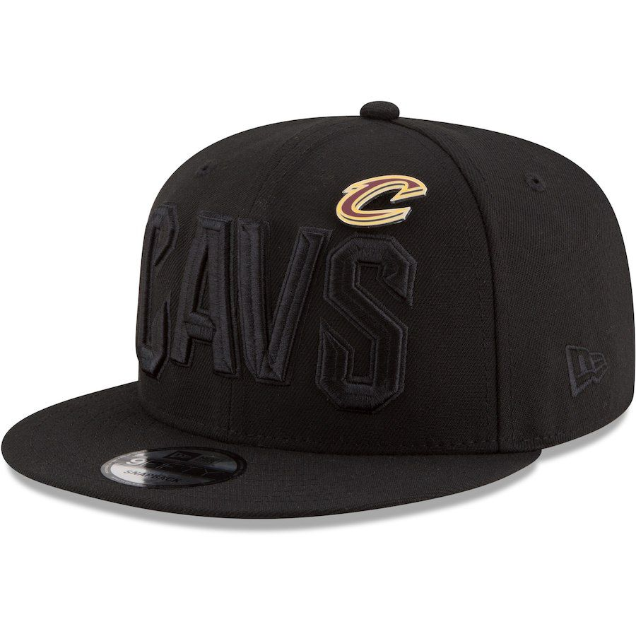 d97342dc9 Men s Cleveland Cavaliers New Era Black Pinned Snap 9FIFTY Adjustable Hat
