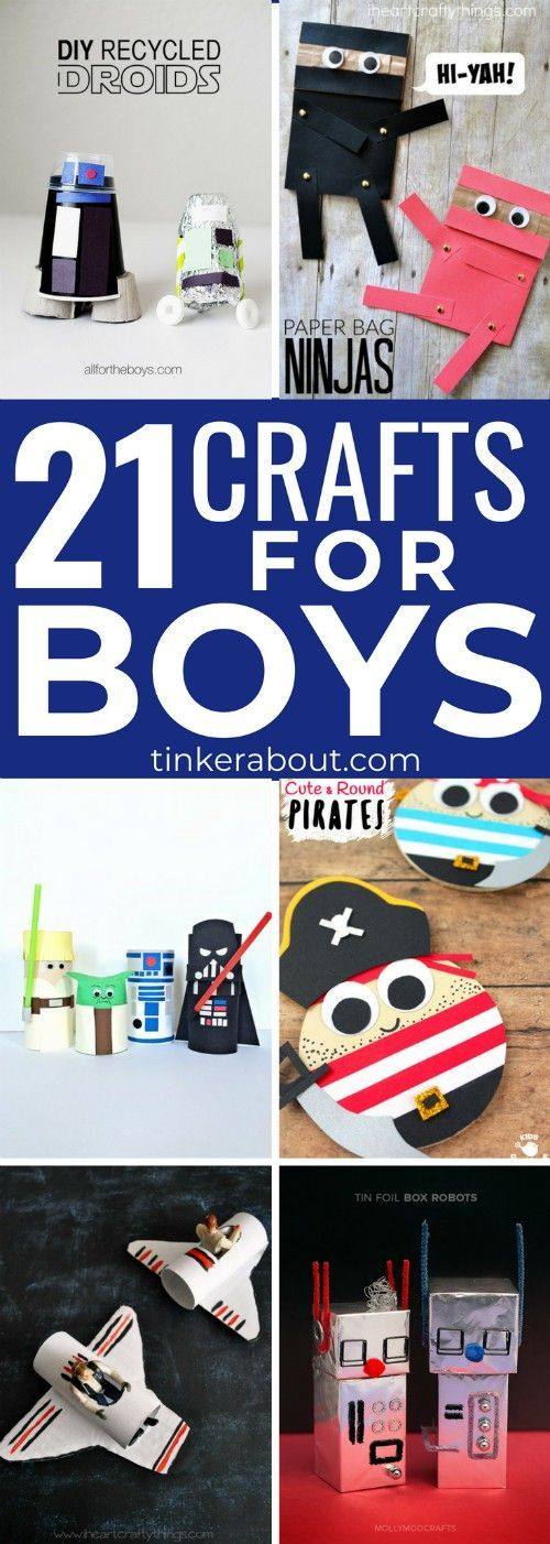 21 Clever Crafts For Boys To Make With Your Little One S Best Of