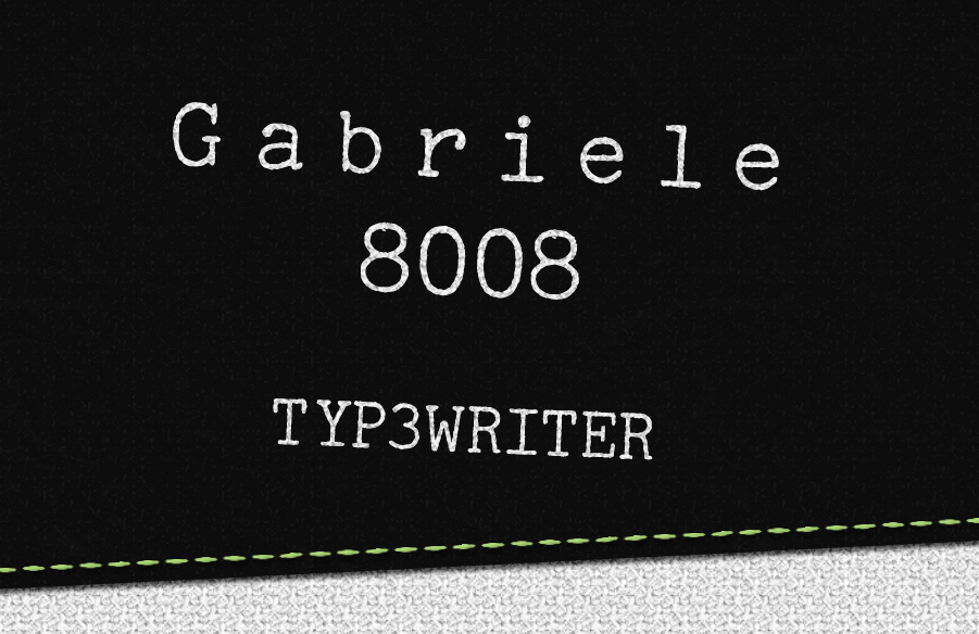 Gabriele 8008 Typewriter - ver 3.2 by Smevog