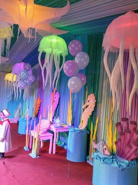 Underwater Decor Underwater Birthday Ocean Birthday Party Birthday Party Decorations Diy