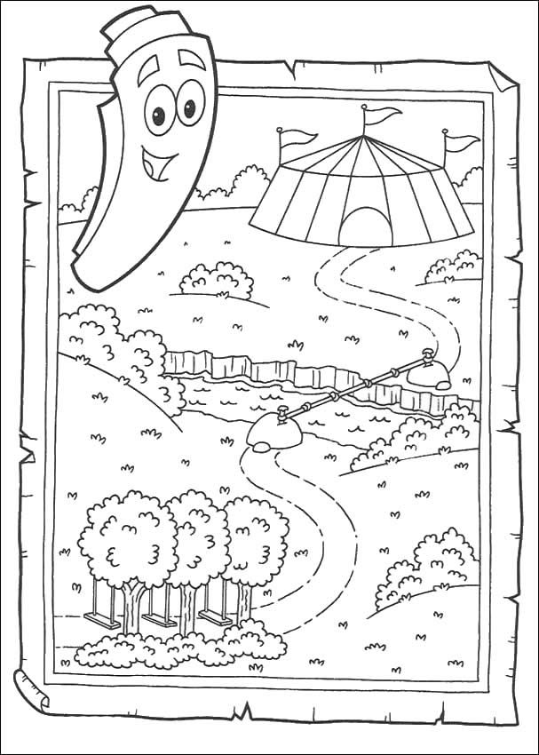 Dora The Explorer Coloring Pages Map World Map Coloring Page Dora Map Coloring Pages
