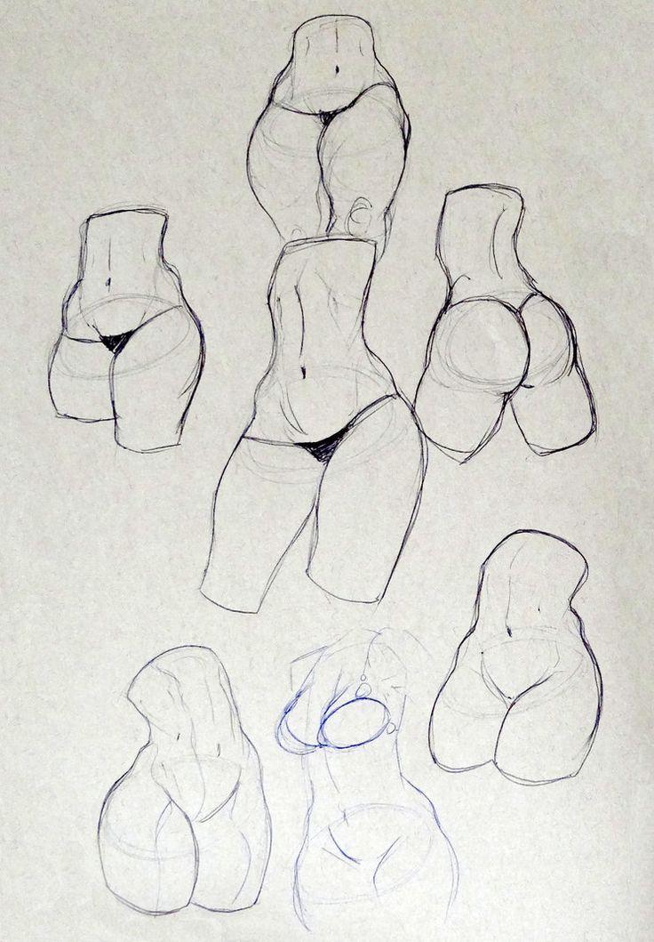 Drawing tutorials - Female torso/breast | Draw, Tutorials and Anatomy