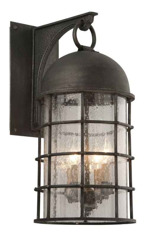 """Troy Lighting B4433 Charlemagne 23.5"""" Tall 4 Light Outdoor Wall Sconce with Clea Aged Pewter Outdoor Lighting Wall Sconces Outdoor Wall Sconces"""