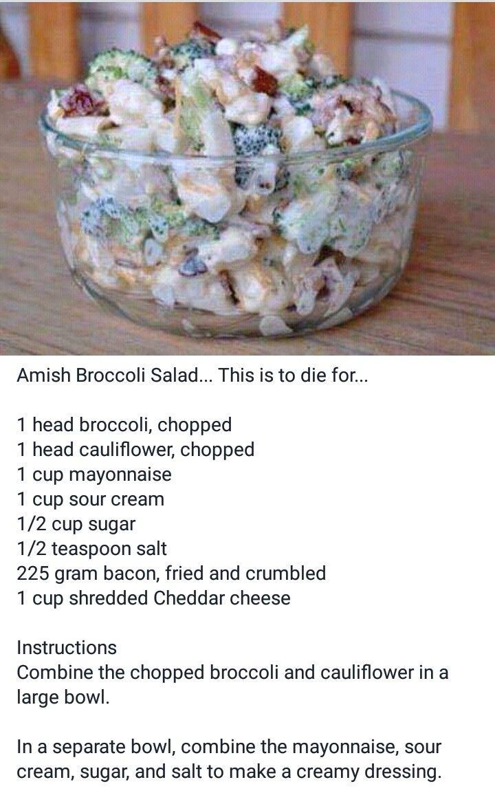 Amish Broccoli Cauliflower Recipe And Salad