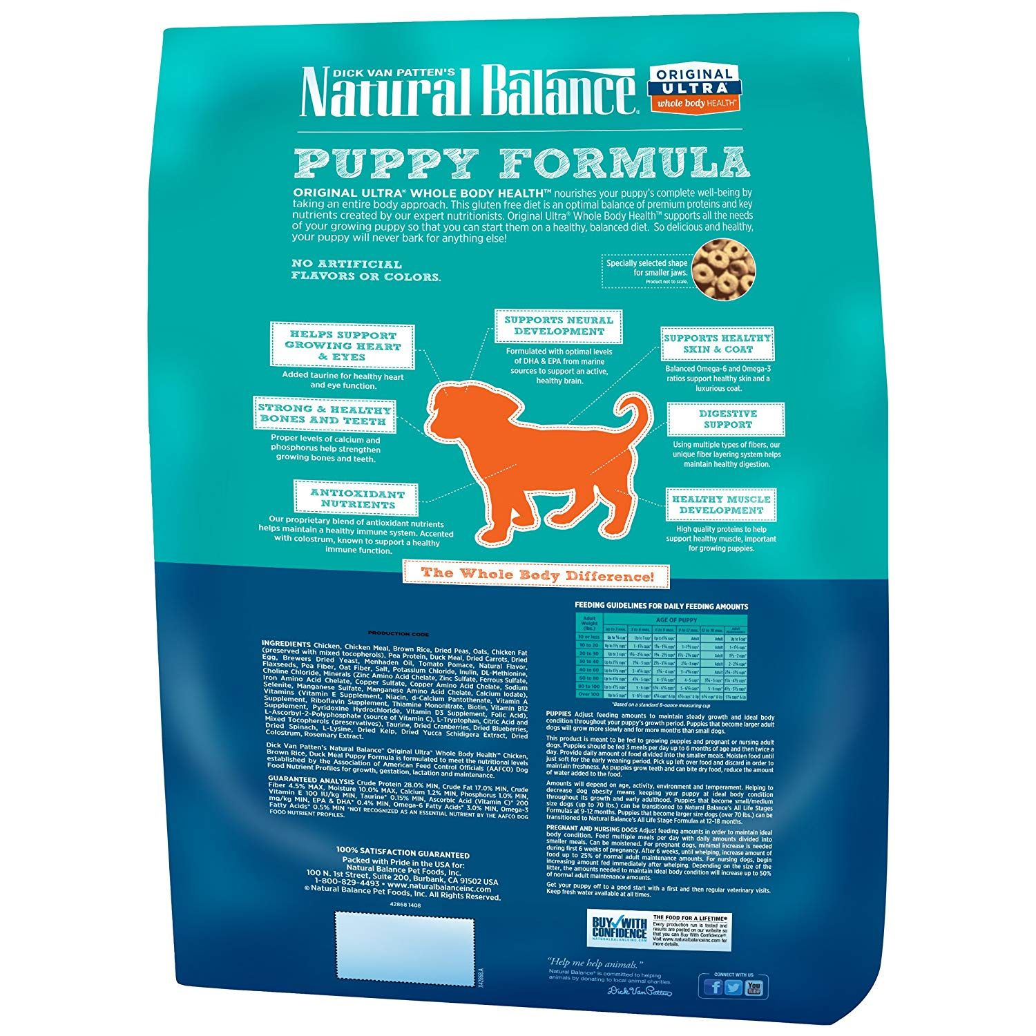 Natural Balance Whole Body Health Dry Puppy Formula To View