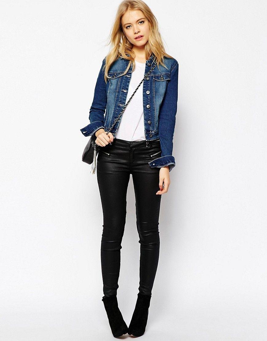 Un outfit estos con vaquera cuero una chaqueta de perfecto jeans son rrpCn