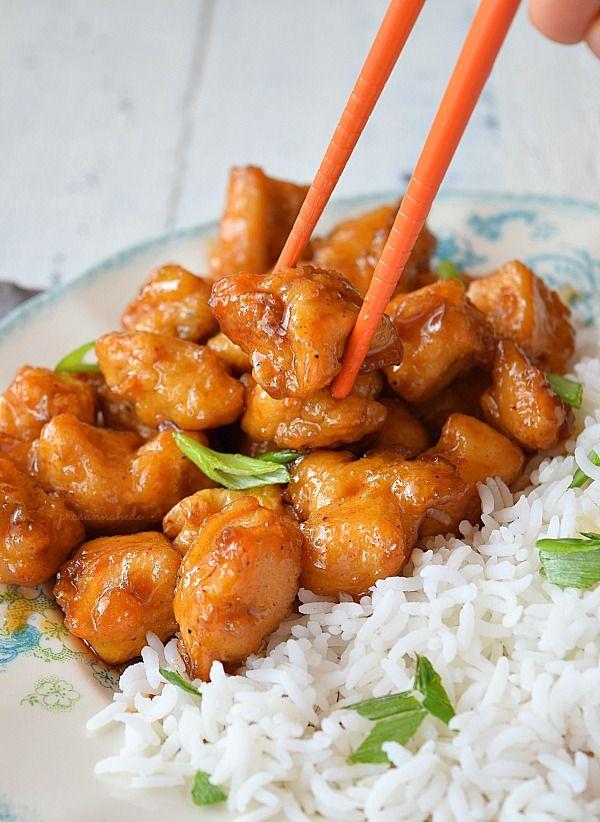 Orange Chicken (Panda Express Copycat) Recipe #chineseorangechicken