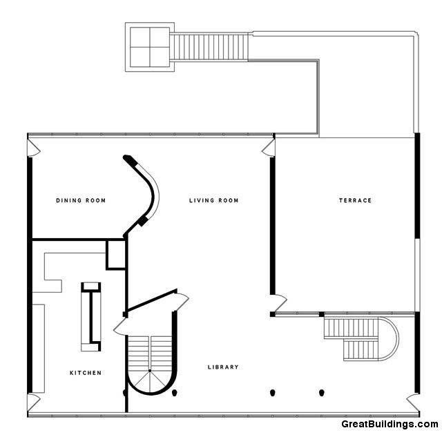 Villa Site Plan Design: Great Buildings Drawing - Villa Stein