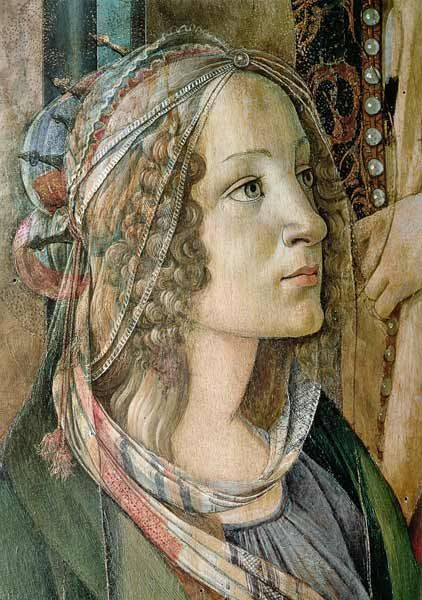 botellici | Sandro Botticelli - Detail of St. Catherine from the Altarpiece of San ...