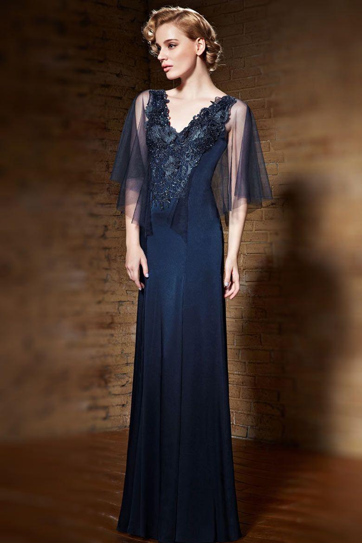 Les robes de soiree en dentelle bleu