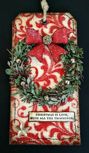 Ink-A-Pink: 12 Tags of Tim Holtz - December 2015