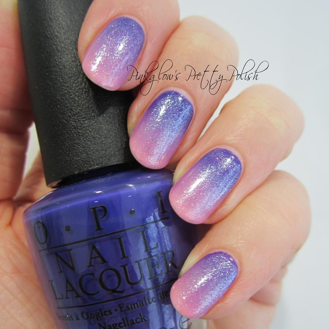 Pinkglow\'s Pretty Polish - Pink and Purple Ombré Nails | nailz ...