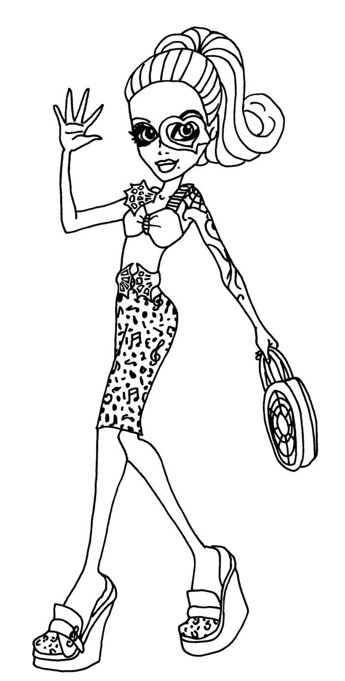 Style Of Operetta Monster Monster High Coloring Pages - Monster High ...