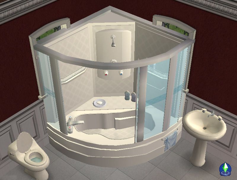 Small Corner Tub Shower Corner Tub Shower Sims 4 Sims 4 Cc Furniture