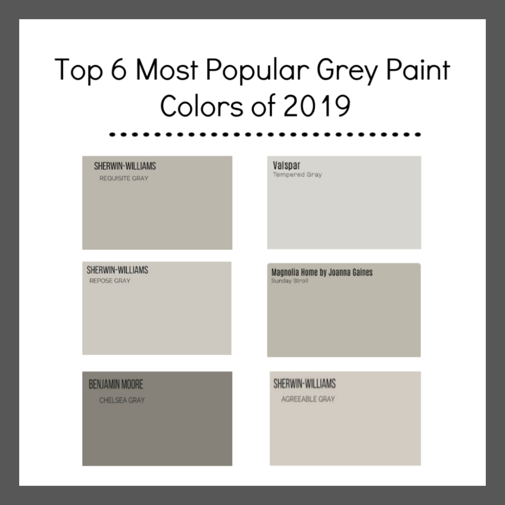 Most Popular Grey Paint Colors Of 2019 In 2020 Popular Grey Paint Colors Popular Paint Colors Grey Paint Colors