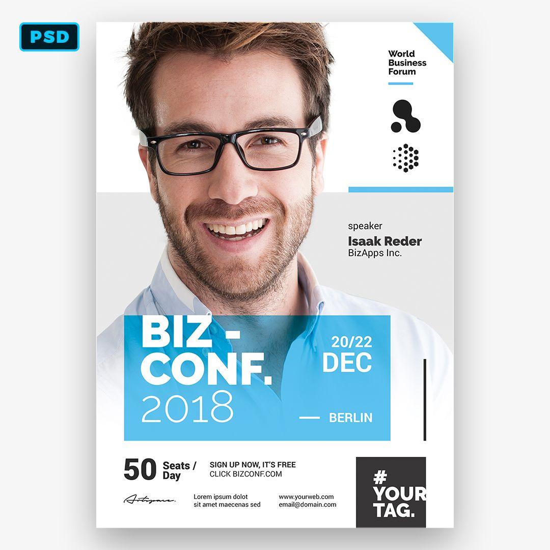 Seminar Flyer Template Event Poster Design Creative Poster