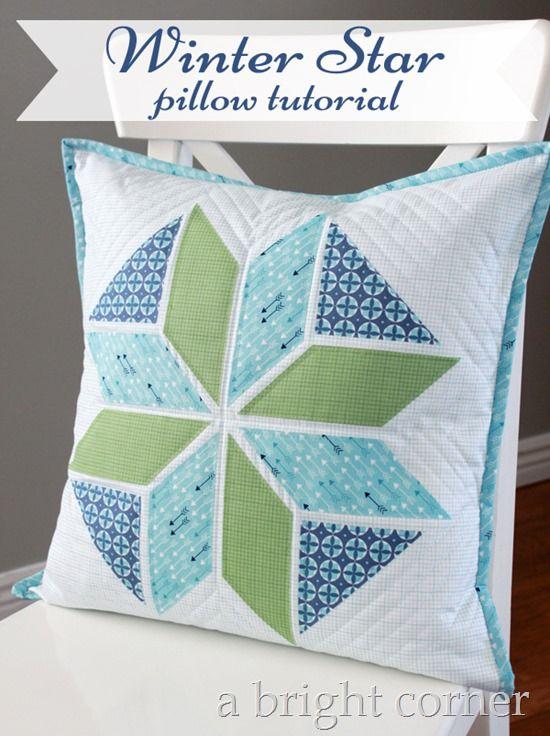 Winter Star Pillow Tutorial Pillow Tutorial Quilted Pillow Covers Star Pillows