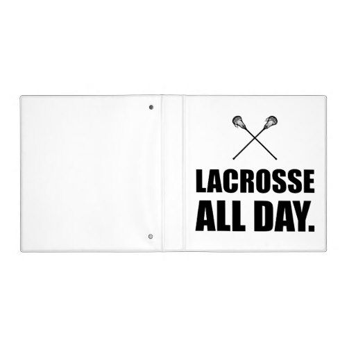 Lacrosse All Day Binder (With Images)