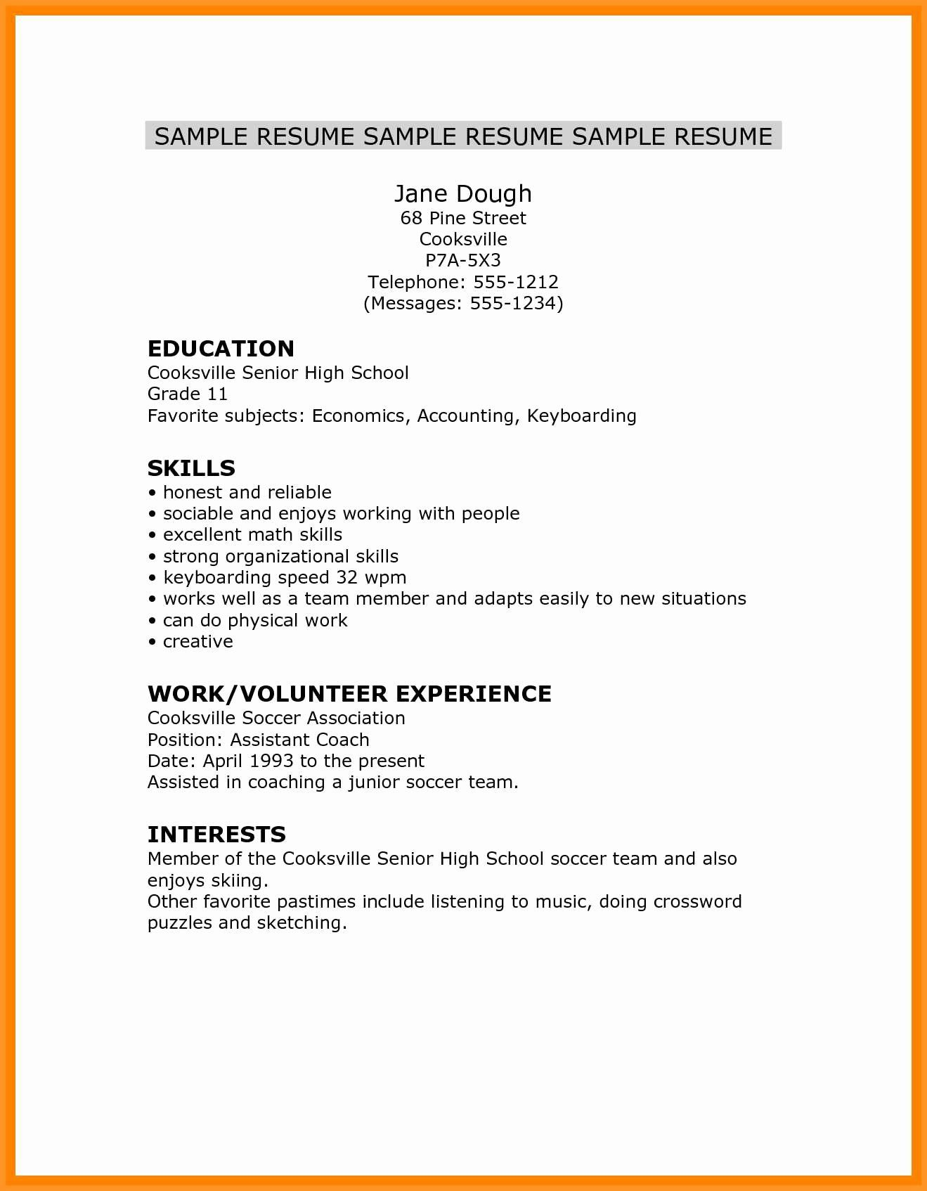 Resume High School Student Fresh 14 15 High School Student Resume Skills High School Resume High School Students Resume Skills