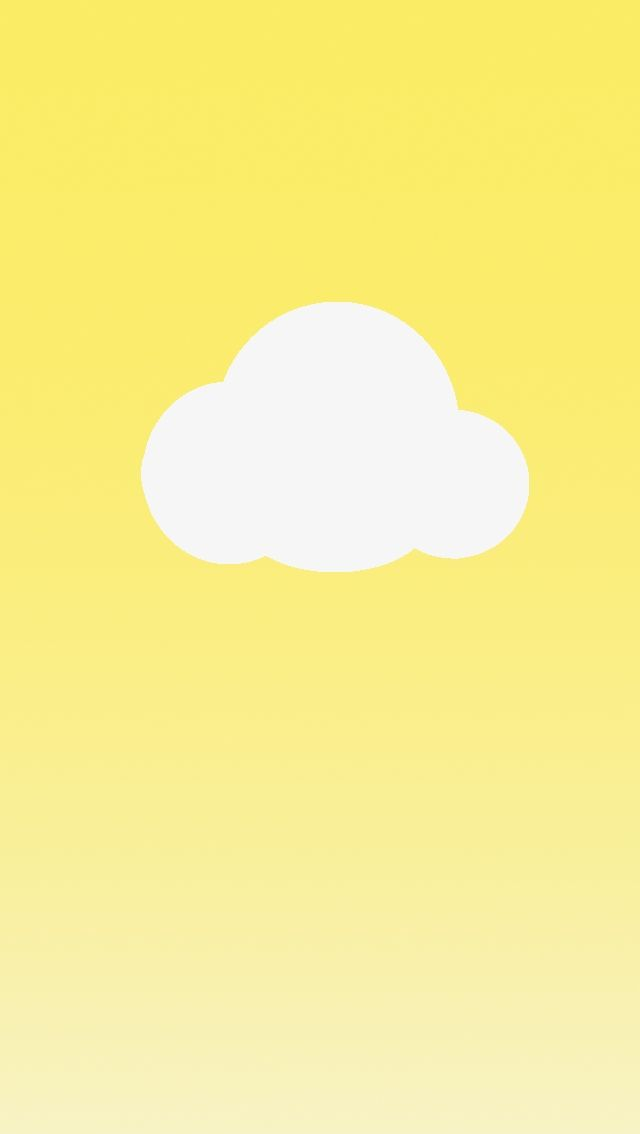 Simple Cloud Clouds Wallpaper Iphone Yellow Yellow iphone xr wallpaper
