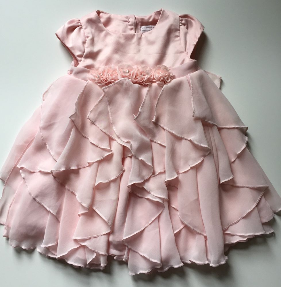 bced460dadc9 Catherine Malandrino Baby Girl Pink Ruffled Party Fancy Occasion Dress 0-3M   CatherineMalandrino  FormalParty