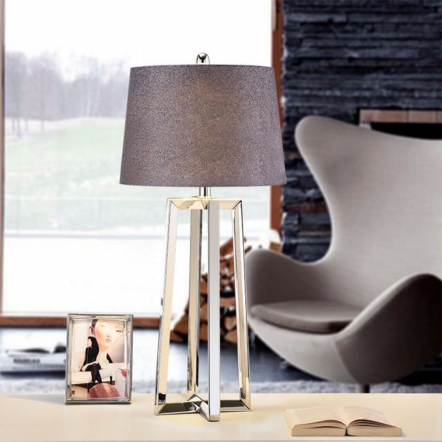Stainless Steel Lamp Shades Big Modern Table Lamps For Living Room Bedroom Bedside Table Lamps M Modern Table Lamp Bedside Table Lamps Modern Lamps Living Room