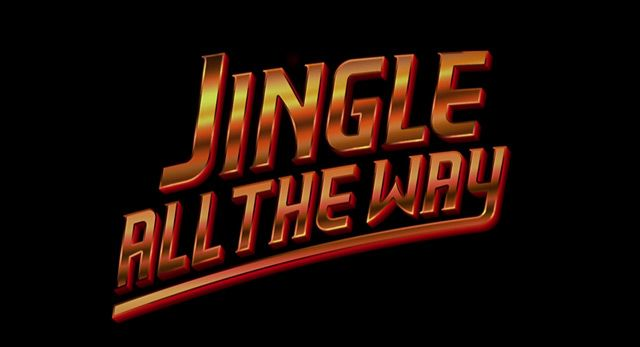JINGLE ALL THE WAY (1996) movie title #Christmas #christmasmovies #typography