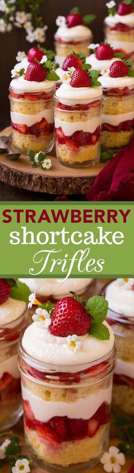 Strawberry Shortcake Trifles desserts Trifle recipe