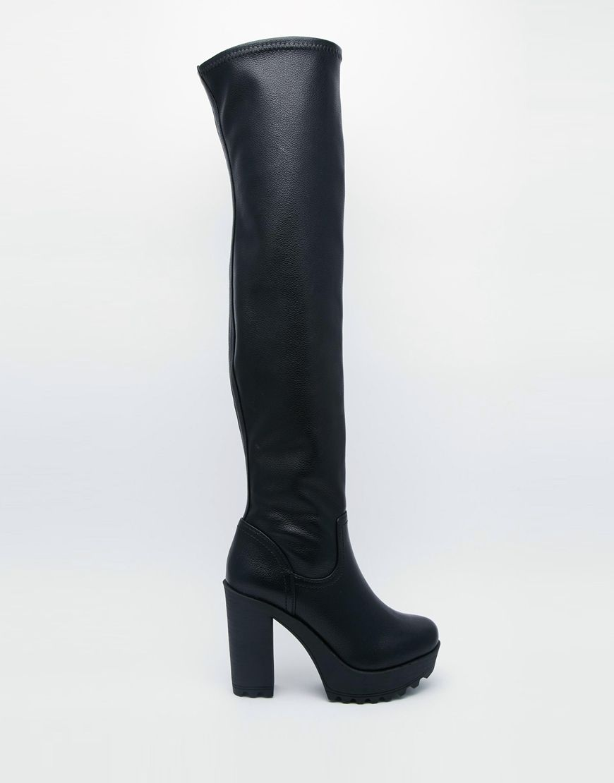 Buy Women Shoes / River Island Bailey Stretch Over The Knee Heeled Boots