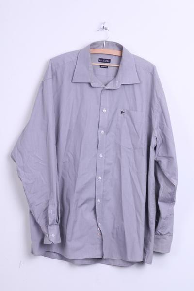Paul R Smith Mens 47 3xl Casual Shirt Navy Check Bugelfrei Cotton Retrospectclothes Mens Vest Casual Shirts Waistcoat