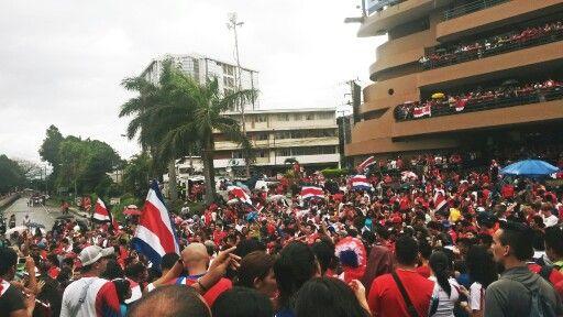 Mundial 2014, Fuente de la Hispanidad, San Pedro, Costa Rica.