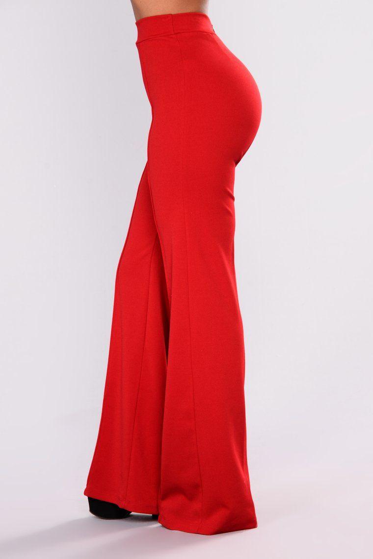 9dba269fef9 Victoria High Waisted Dress Pants - Ruby