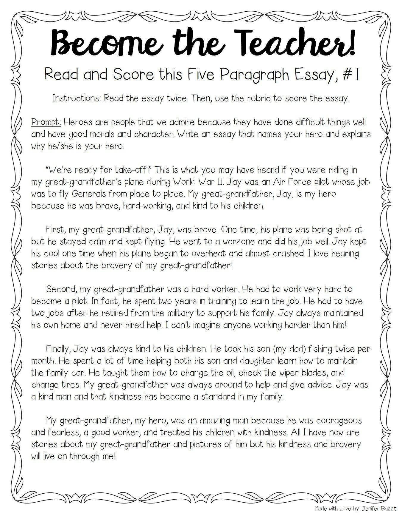 Tips For Teaching And Grading Five Paragraph Essays With